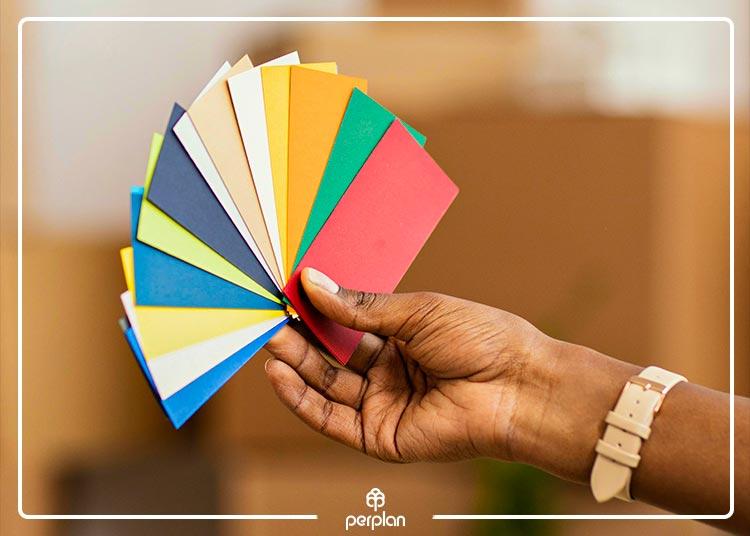 As combinações de cores que dão vida ao ambiente
